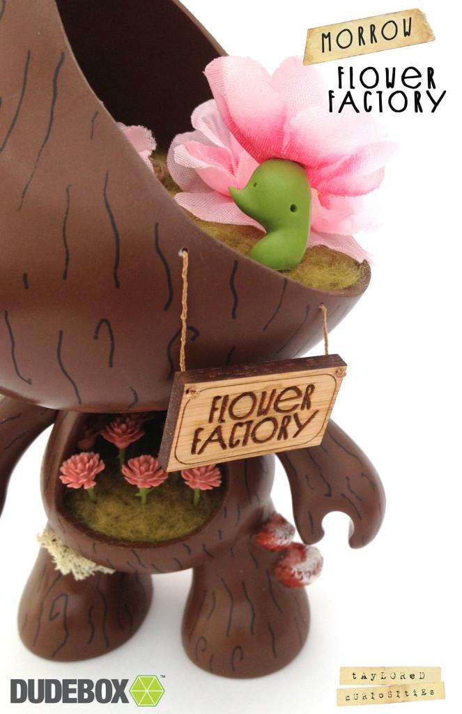 taylored curiosities dudebox custom scratch designer toy morrow flower factory #morrow