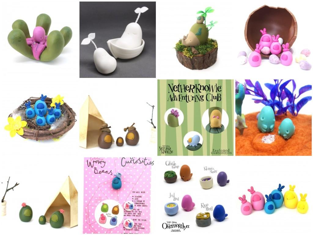 taylored curiosities toycon uk 2015 designer toy show art artistry mixed media original handmade uk netherknowle worrybeans moon seedling okemordyn blindbox