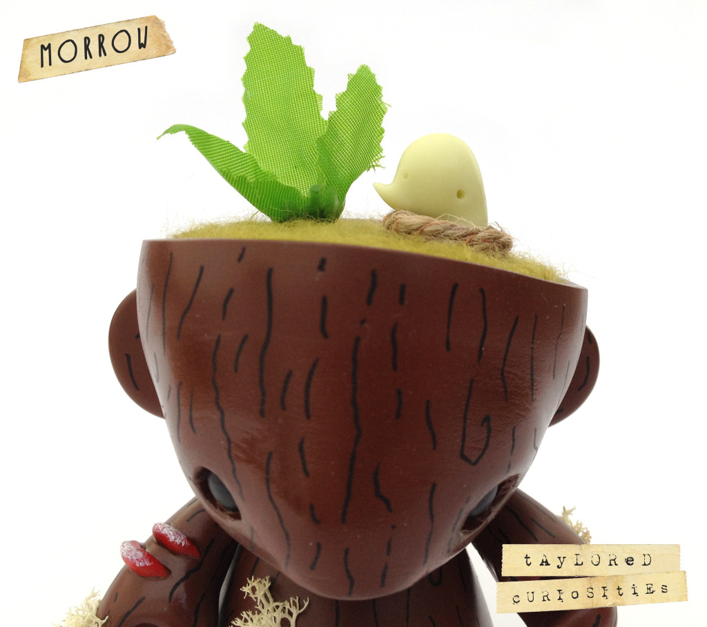 KEEPER OF THE FOREST MORROW GREEN MUNNY KIDROBOT TAYLORED CURIOSITIES ART DOLL CUSTOM TOY 13