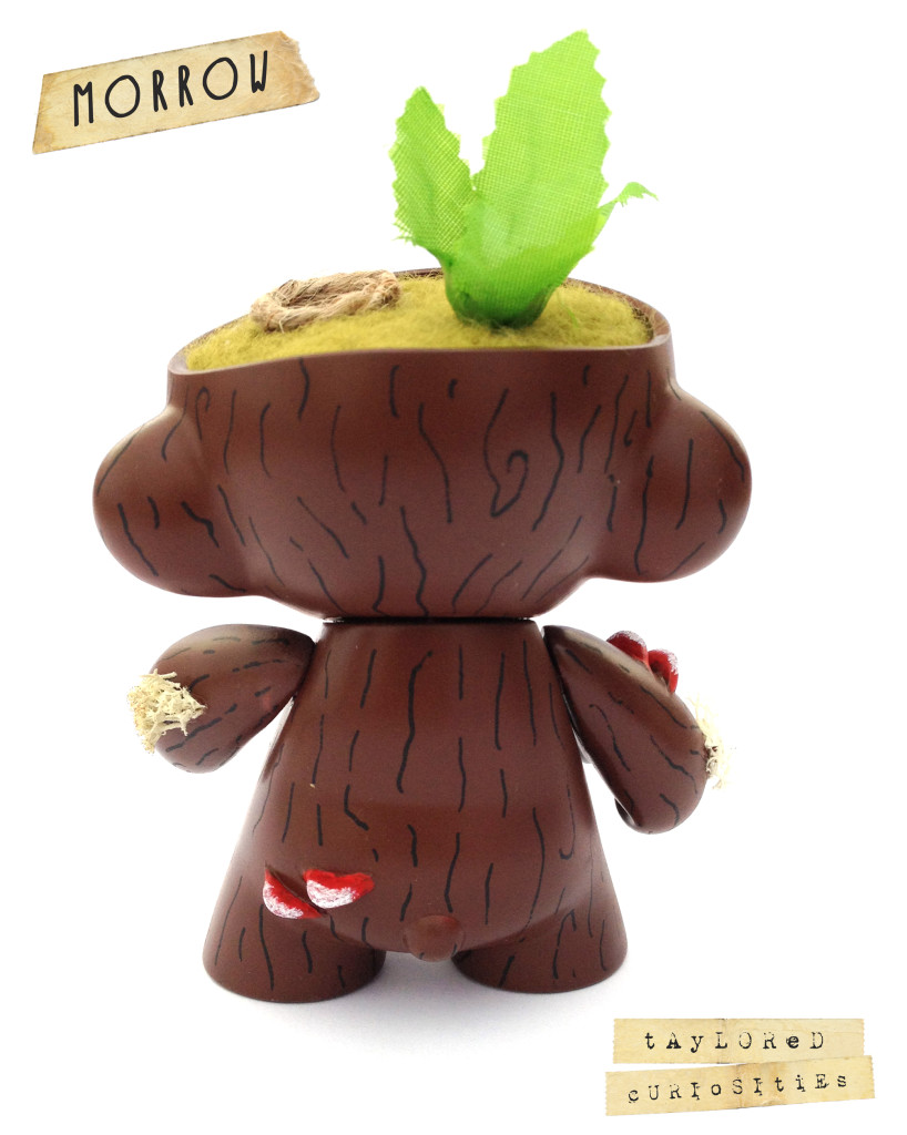 KEEPER OF THE FOREST MORROW GREEN MUNNY KIDROBOT TAYLORED CURIOSITIES ART DOLL CUSTOM TOY 7