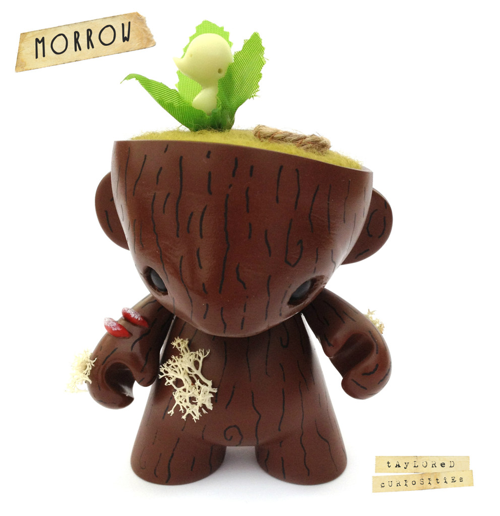 KEEPER OF THE FOREST MORROW GREEN MUNNY KIDROBOT TAYLORED CURIOSITIES ART DOLL CUSTOM TOY SQUARE