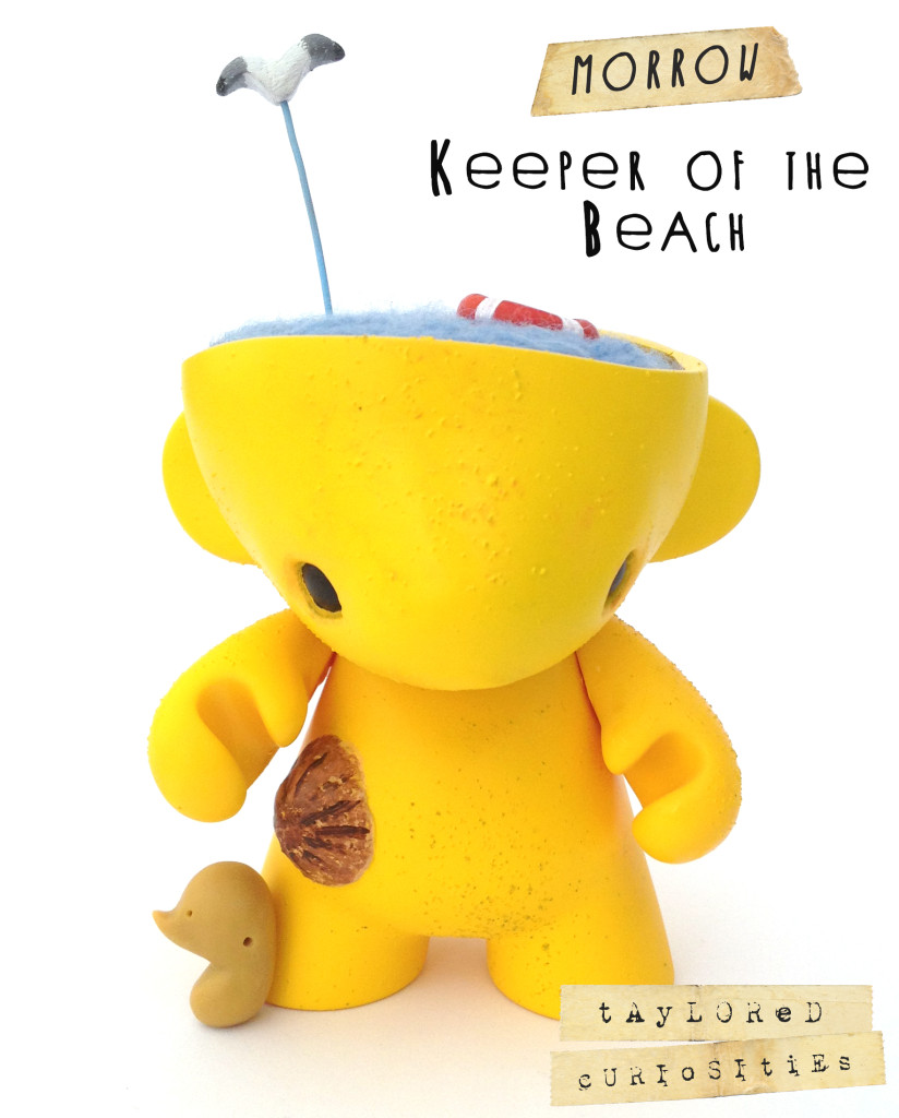 KEEPER OF THE beach MORROW yellow MUNNY KIDROBOT TAYLORED CURIOSITIES ART DOLL CUSTOM TOY 9