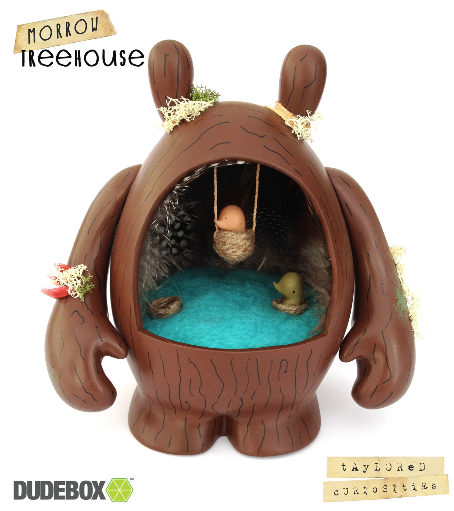 taylored curiosities morrow treehouse dudebox custom dude tree brown green designer toy 2