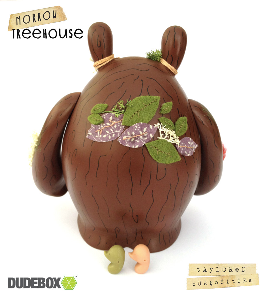 taylored curiosities morrow treehouse dudebox custom dude tree brown green designer toy back