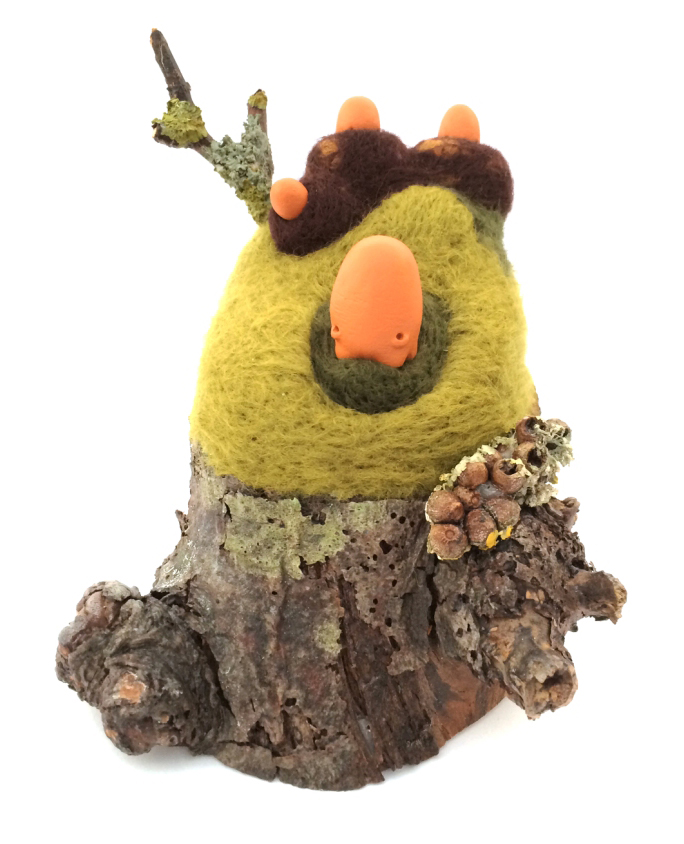 taylored curiosities gibblegump okemordyn needle felt tree sculpt designer toy around the world in 80 toys comp 2