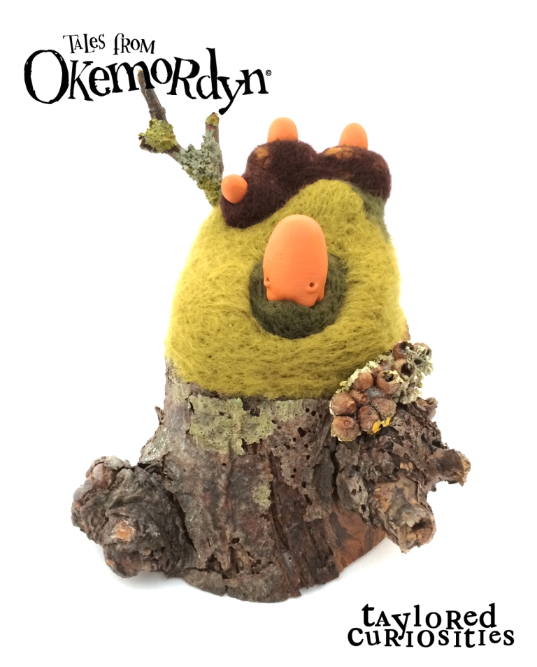 taylored curiosities gibblegump okemordyn needle felt tree sculpt designer toy around the world in 80 toys copyright protected 2 comp