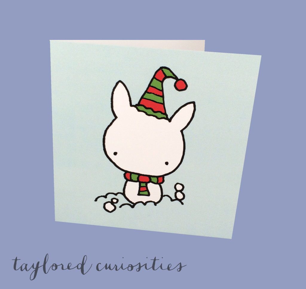 christmas tea bunny card christmas card stationary gift taylored curiosities 2
