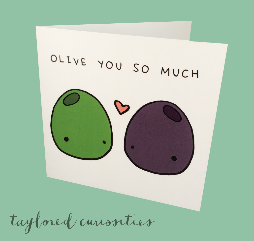 olive you so much card christmas card stationary gift taylored curiosities valentine